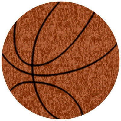 American Crafts Sports Specialty Cardstock 12X12 Die-Cut Basketball