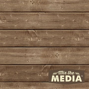 Jillibean Soup Mix The Media Wooden Plank- 8X8 Dark