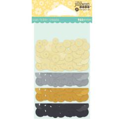 Jillibean Soup Shaker Card Sequins- Neutrals
