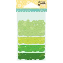 Jillibean Soup Shaker Card Sequin Pack- Greens