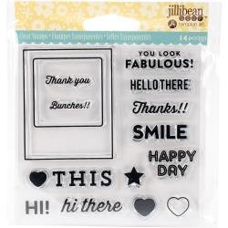 Jillibean Soup Shaker Card Clear Stamps- Fabulous