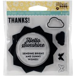 Jillibean Soup Shaker Card Clear Stamp- Sunshine