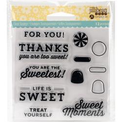 Jillibean Soup Shaker Card Clear Stamp- Sweet Moment