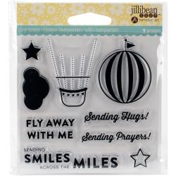Jillibean Soup Shaker Card Stamp- Fly Away Stamp