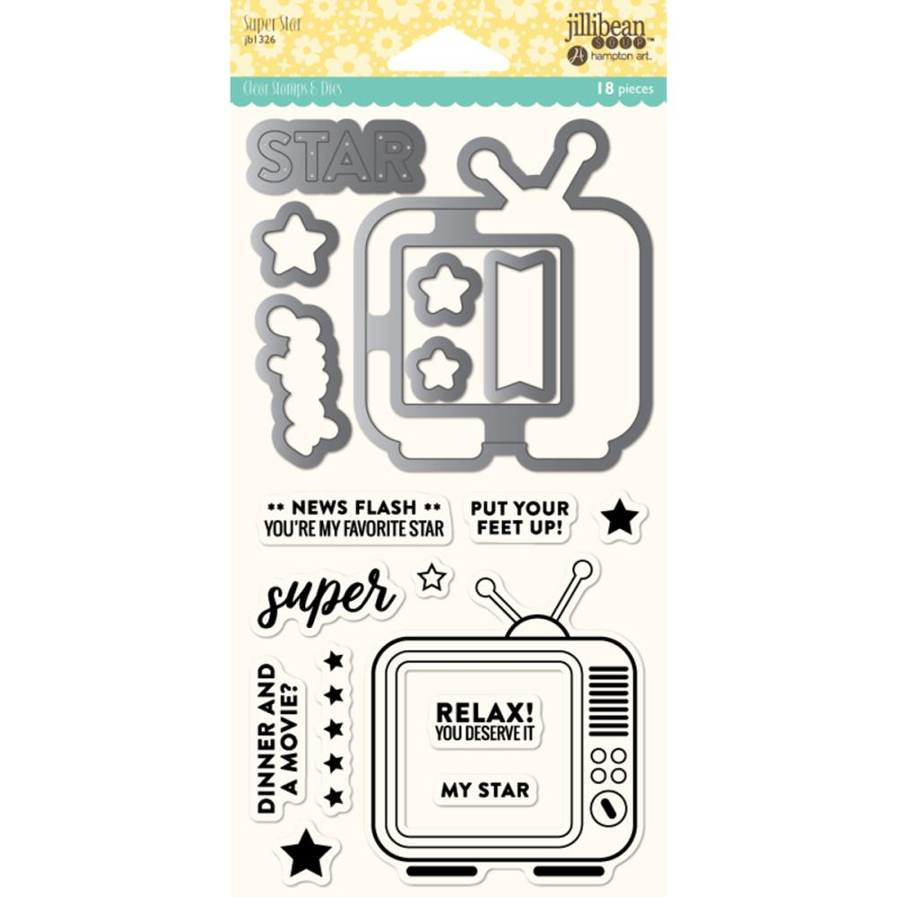 Jillibean Soup Clear Stamp Set- Super Star