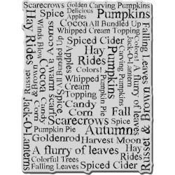 Autumn Words stamp