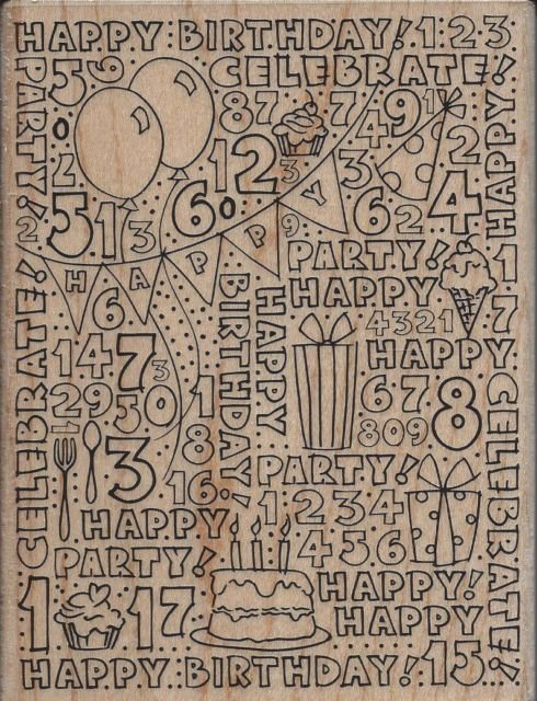 Birthday Block stamp