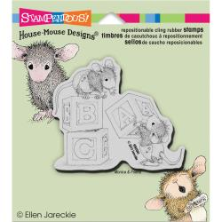 Stampendous Cling Stamp - House Mouse Baby Blocks