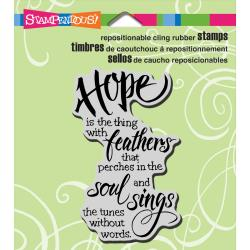 Stampendous Cling Stamp - Hope Sings