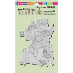 House Mouse Cling Stamp- Dog Wash