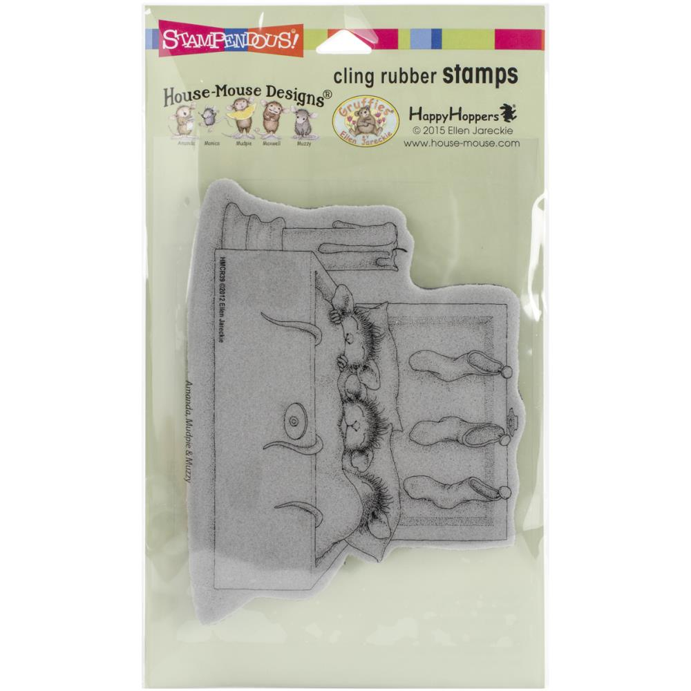 House Mouse Cling Stamp- Nestled In Bed