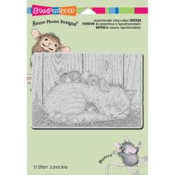 Stampendous Cling Stamp - House Mouse Cap Nap