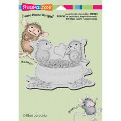 Stampendous Cling Stamp - House Mouse Paper Clip Heart