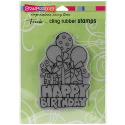 Stampendous Cling Stamp - Chunky Birthday