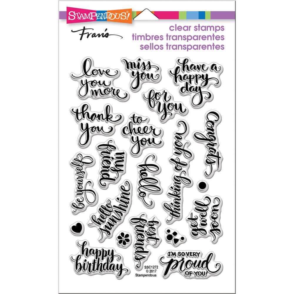 Stampendous Perfectly Clear Stamps- Brushed Wishes