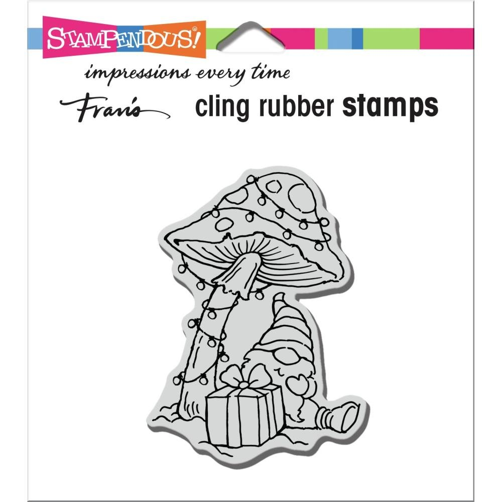 Stampendous Cling Stamp-Mushroom Gnome