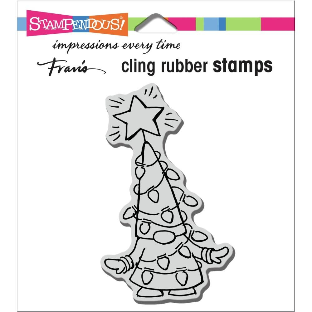 Stampendous Cling Stamp-Gnome Lights