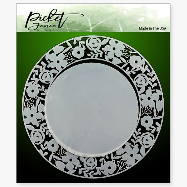 Ring of Flowers Stencil - Picket Fence