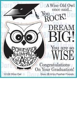Wise Owl stamp Dare 2B Artzy