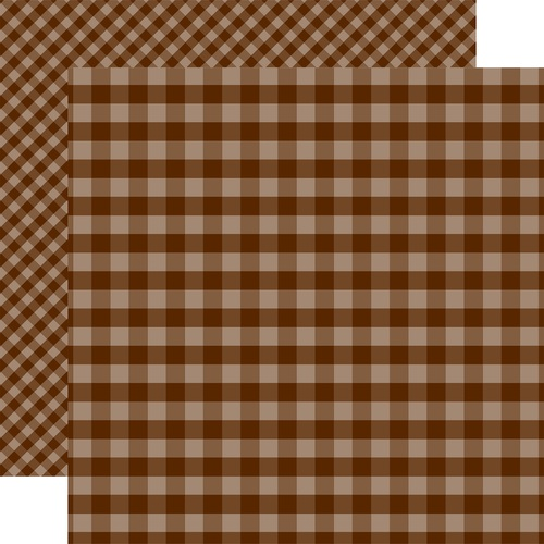 Echo Park 12X12 Paper- Brown Gingham