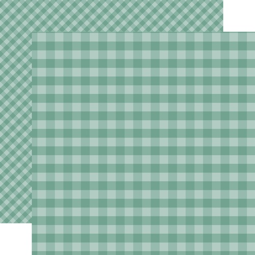 Echo Park 12X12 Paper- Teal Gingham