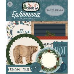 Let It Snow Ephemera Cardstock Die-Cuts 33/Pkg- Icons