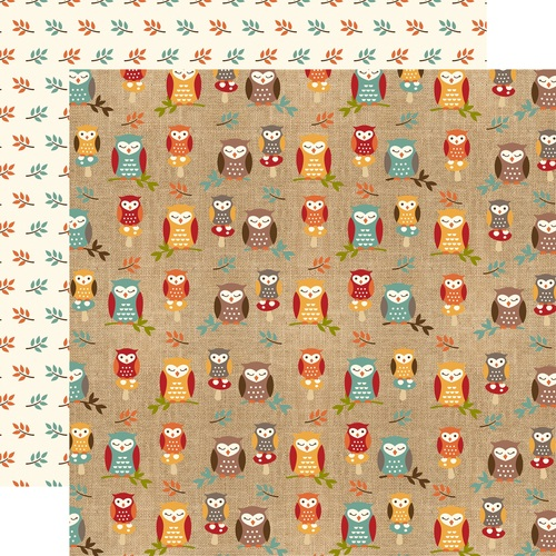 Echo Park Celebrate Autumn Double-Sided Cardstock 12X12- fall owls