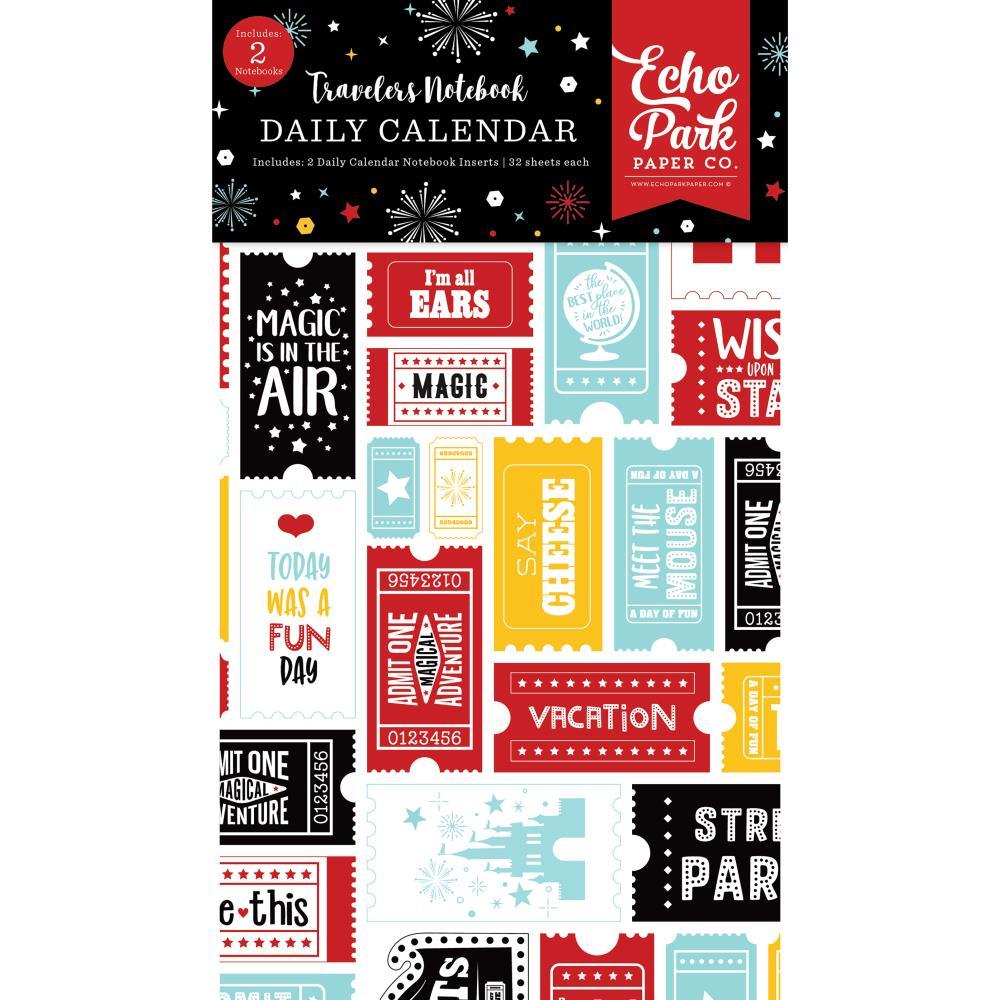 Echo Park Traveler's Notebook Insert 4.5X8.25- Wish Upon A Star Daily Calendar