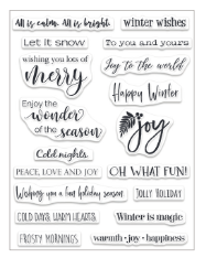 Christmas Sentiments- Penny Black Stamp