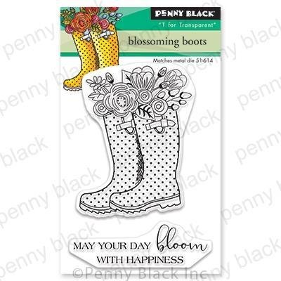 Penny Black Clear Stamps-Blossoming Boots