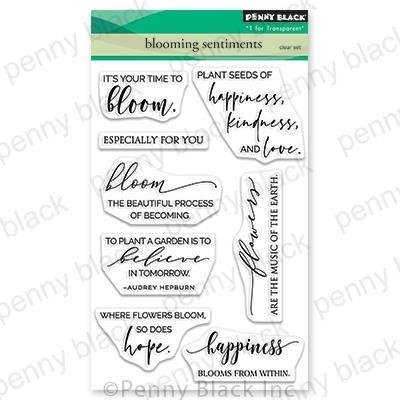 Penny Black Clear Stamps-Blooming Sentiments