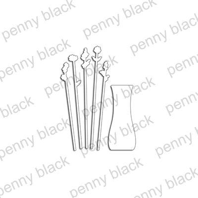 Tall Flowers Metal Die- Penny Black
