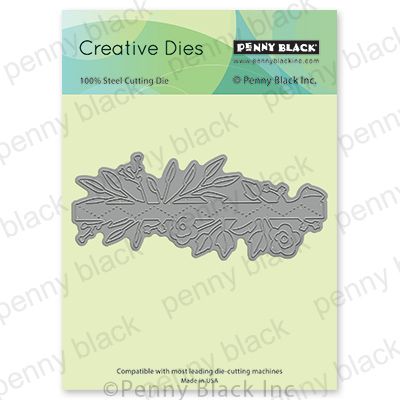 Floral Strip Die- Penny Black
