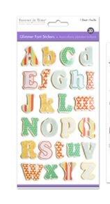 Glimmer Foil Alphabet Stickers- Font Fun- FLORAL