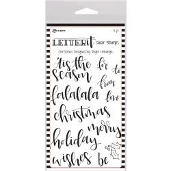 Christmas -Ranger Letter It Clear Stamp Set 4X6