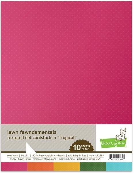 Textured dot cardstock - tropical