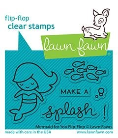 Lawn Fawn Clear Stamps 3X2-Mermaid For You Flip-Flop