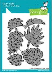 Lawn Cuts Custom Craft Die-Tropical Leaves