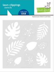 Lawn Clippings Stencils-Tropical Leaves