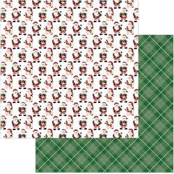 Santa Claus- Here Comes Santa Double-Sided Cardstock 12X12