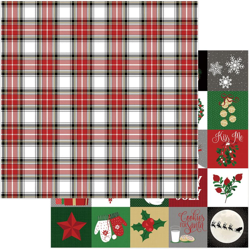 Count Down- Here Comes Santa Double-Sided Cardstock 12X12 -