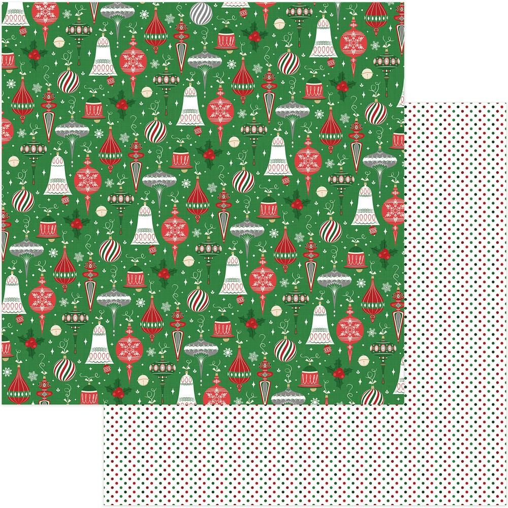 Trimmings- Here Comes Santa Double-Sided Cardstock 12X12