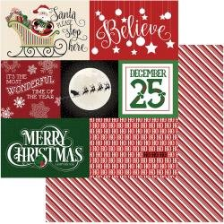 Believe- Here Comes Santa Double-Sided Cardstock 12X12