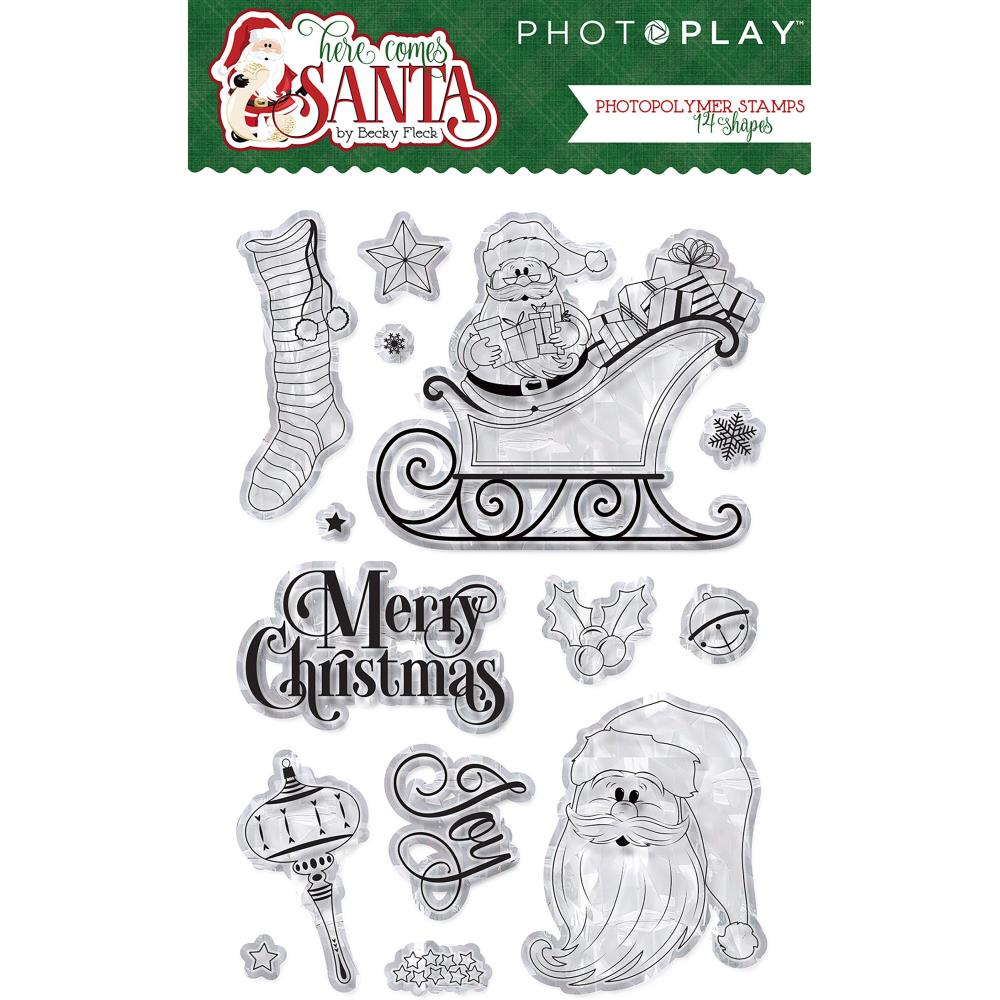Here Comes Santa PhotoPlay Photopolymer Stamp
