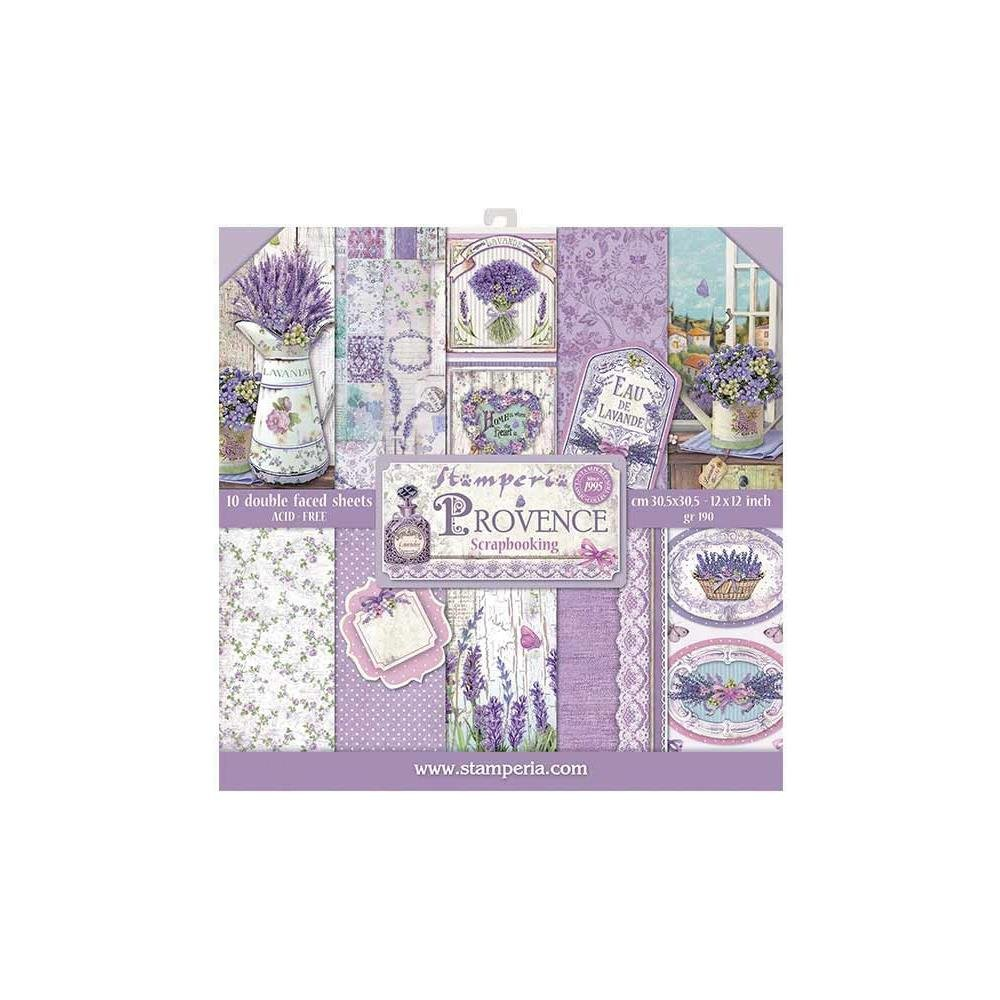 10/Pkg Provence Stamperia Double- Paper Pad 12X12