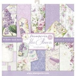 10/Pkg Lilac Sided- Stamperia Double- Paper Pad 12X12 , 10 Designs/1 Each