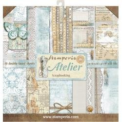 Stamperia Double-Sided Paper Pad 12X12 10/Pkg- Atelier