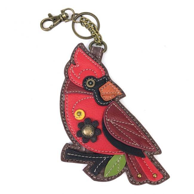 Cardinal Key Fob/ Coin Purse Chala