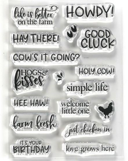 Life is better on the farm Stamp- Elizabeth crafts