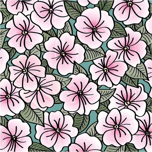 Impatiens - LDRS Creative - Clear Photopolymer Stamps -